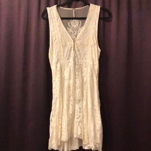 White, lace Free People mini dress